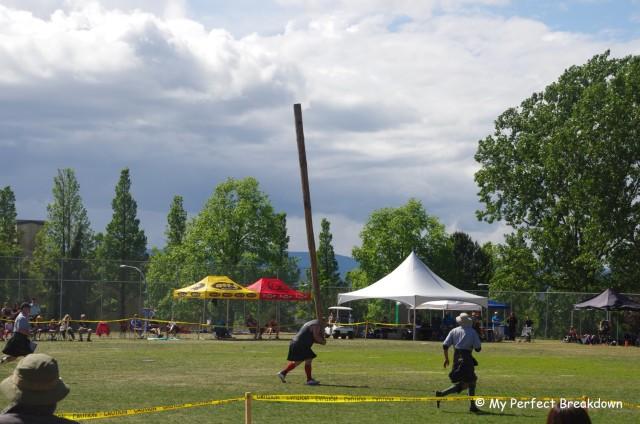 151st Victoria Highland Games - Caber Toss