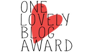 20140915 - One Lovely Blog Award