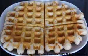 Waffles from last weekend.  Yummy.